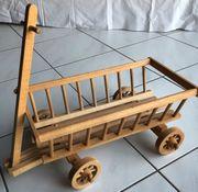 Deko-Holz-Leiterwagen Handwagen Holzwagen TOP