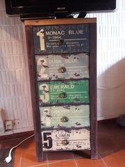 Kommode Schrank 5 Schubladen