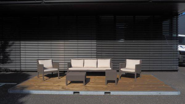 Lounge Möbel - Rattangarnitur