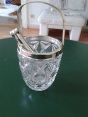 Vintage Kristall - Eiswürfelkübel 60 70iger