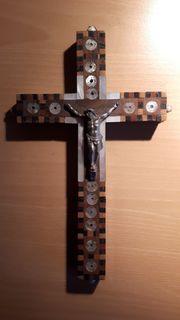 Kreuz Holz Perlmutt Jerusalem
