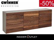 -50 Sideboard Nussbaum massiv 195