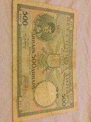 500 Dinara Banknote 1935 zu