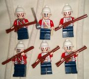 6x Soldaten Engländer Armee Kolonial-