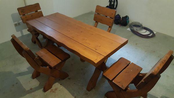 Tischgruppe Holz Massiv Garten Sitzgruppe In Kirchham