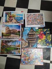 verschiedene tolle Puzzle 1 000