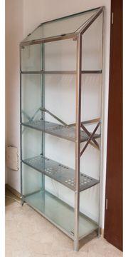 Regal aus Glas Metall