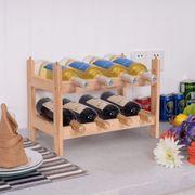 Weinschrank Holz Weinregal Stapelbar 8