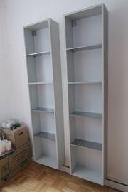 2x Regal grau Bücherregal mit