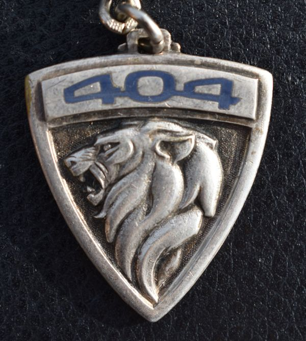 Alter PEUGEOT 404 Schlüsselanhänger