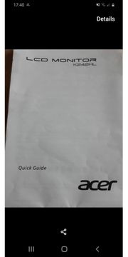 Acer LCD 24 Zoll Monitor