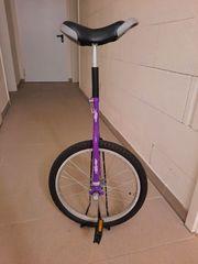Einrad 20 Lila mit Einradständer