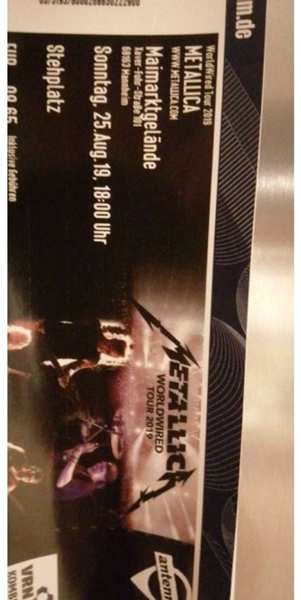 Metallica Mannheim 2x Stehplatz