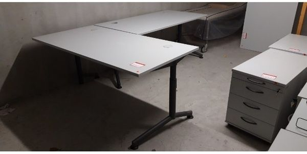 Schreibtisch Arbeitstisch Rollcontainer Bürostuhl tischkombi