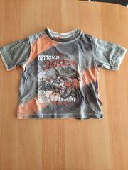 T-Shirt Jungs Größe 92 grau-orange