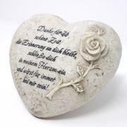 Urnengrab Grabschmuck Herz mit Trauerspruch