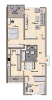 Vermiete helle 3 Zimmer Wohnung