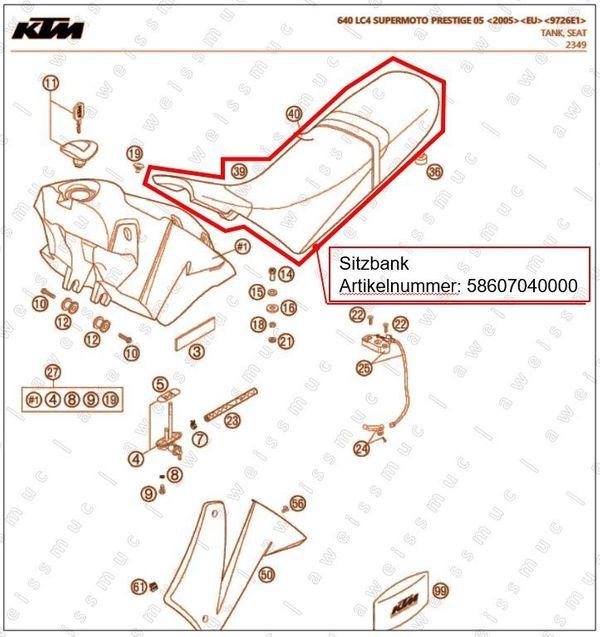 Sitzbank für KTM 640 LC4