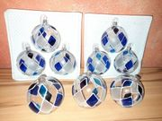 9 Weihnachtskugeln Christbaumkugeln aus Glas