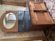 antiker Waschtisch mit Marmorplatte und