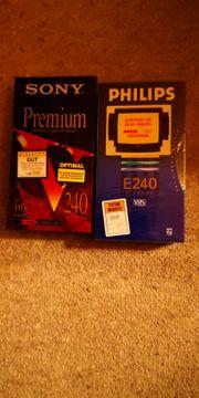 original verpackte VHS Kassetten