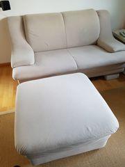Couch 2 Sitzer mit Hocker