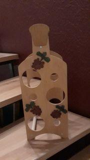 Weinregal aus Holz tragbar