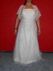 Hochzeitskleid Ladybird 52 cremeweiß gereinigt