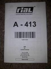 ABE für Leichtmetallrad Leichtmetallfelgen rial