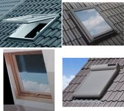 Dachfenster mit ALU-Rollladen Vollkunststoff-Dachfenster mit