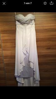 Schönes Schulterfreies Boho Hochzeitskleid