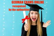 ONLINE GERMAN LANGUAGE EXAMS - recognised
