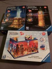 3 Ravensburger 3d Puzzle zu