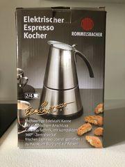 Espressokocher elektrisch 2-4 Tassen