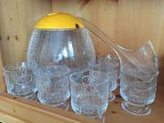 Glas Bowle Set Schale 6