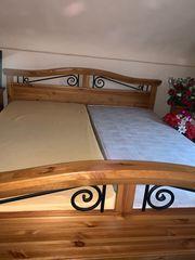massiv Holz Bett