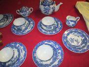 Chinesisches Teeservice Porzellan 19Teile ein