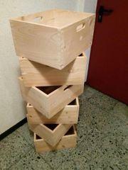 6 Massivholz Kisten