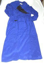 Chloé französisches Designerkleid royalblau Langarm