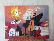 Wandbild Rosina Wachtmeister Cello