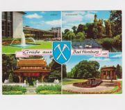 Gelaufene Mehrbildkarte von Bad Homburg