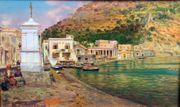 Italienisches Gemälde Signiert Wunderschön Italien