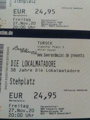 2 Tickets Lokalmatadore in Essen