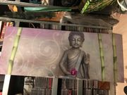 Buddha Glasbild