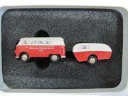 Schuco T1 Bus mit Anhänger -