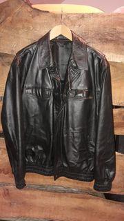 original Polizei Lederjacke in XL