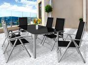 Gartenmöbel- Garnitur inkl Sitzkissen