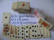 Spielkarten alte Spielkarten 12xplus 1x