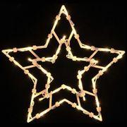 NEU LED Fenster-Silhouette Stern 35