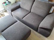 Formschönes robustes braunes Sofa Couch